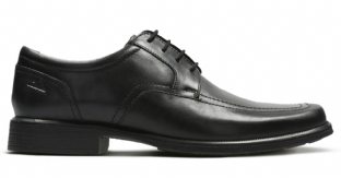 Clarks Mens Huckley Spring Black Leather Shoes